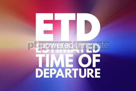 Business: ETD - Estimated Time of Delivery acronym business concept backg #15840