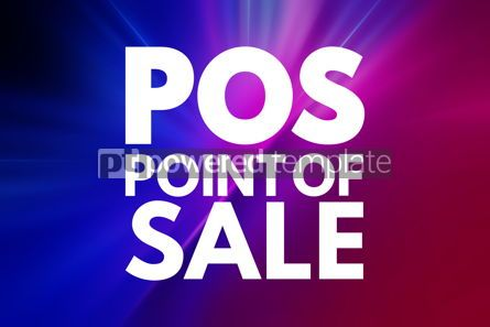Business: POS - Point of Sale acronym business concept background #15843