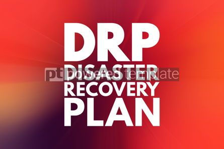 Business: DRP - Disaster Recovery Plan acronym business concept backgroun #15845