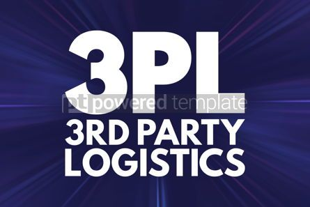 Business: 3PL - 3rd Party Logistics acronym business concept background #15846