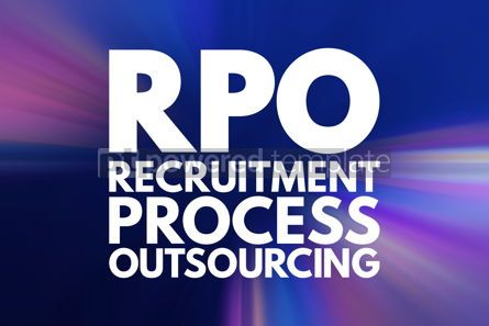Business: RPO - Recruitment Process Outsourcing acronym business concept #15847