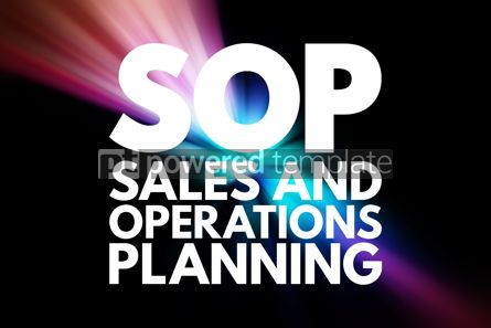 Business: SOP - Sales and Operations Planning acronym business concept ba #15848