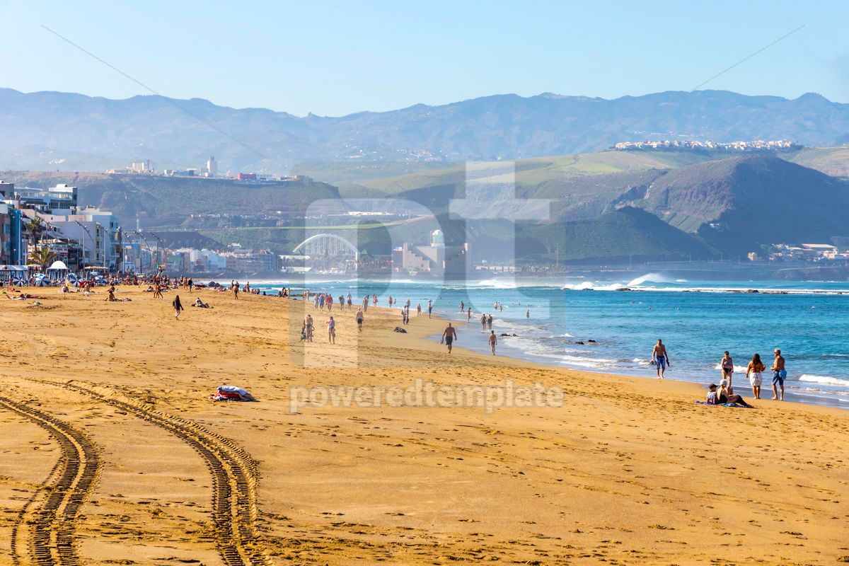 Las Canteras Beach in Las Palmas de Gran Canaria Spain, 15857, Nature — PoweredTemplate.com