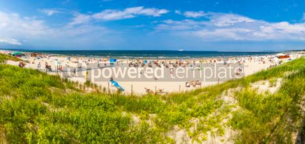 Nature: Crowded Baltic sea beach in Swinoujscie Poland #15862