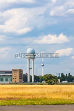 Transportation: Berlin Tempelhof Airport former airport of Berlin Germany #15867