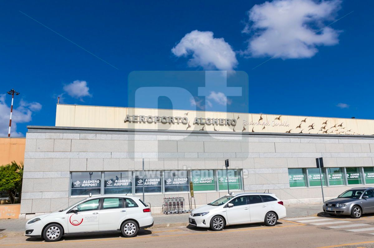 Alghero-Fertilia Airport on Sardinia island Italy, 15869, Transportation — PoweredTemplate.com