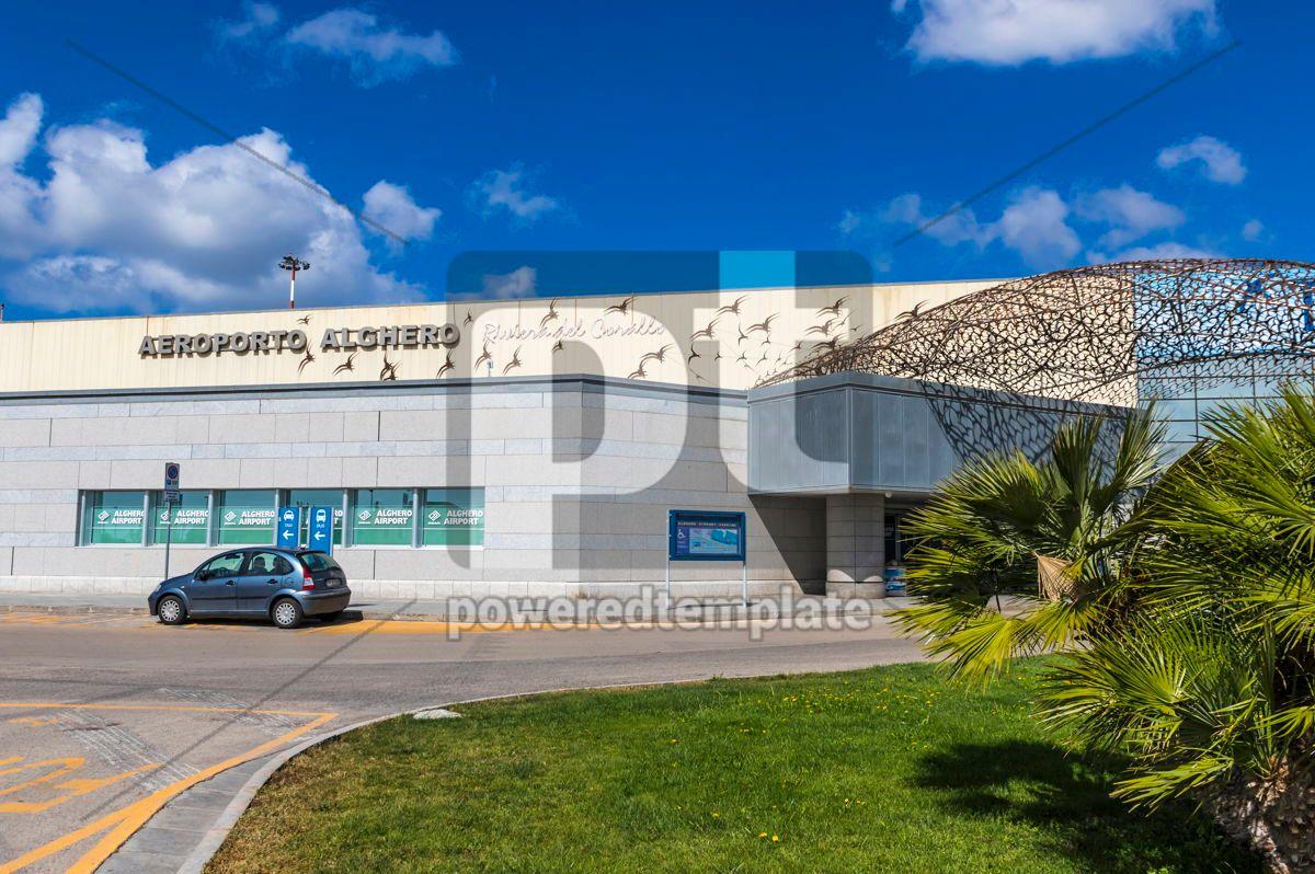 Alghero-Fertilia Airport on Sardinia island Italy, 15870, Transportation — PoweredTemplate.com