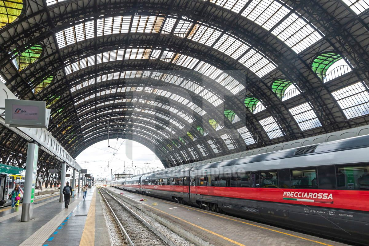 Milan Central Railway Station Milano Centrale Italy, 15871, Transportation — PoweredTemplate.com