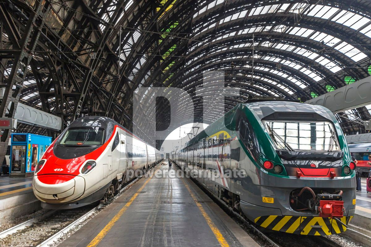 Milan Central Railway Station Milano Centrale Italy, 15872, Transportation — PoweredTemplate.com