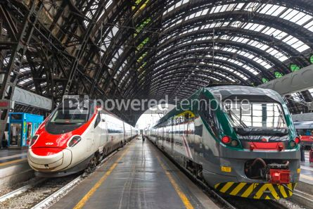 Transportation: Milan Central Railway Station Milano Centrale Italy #15872