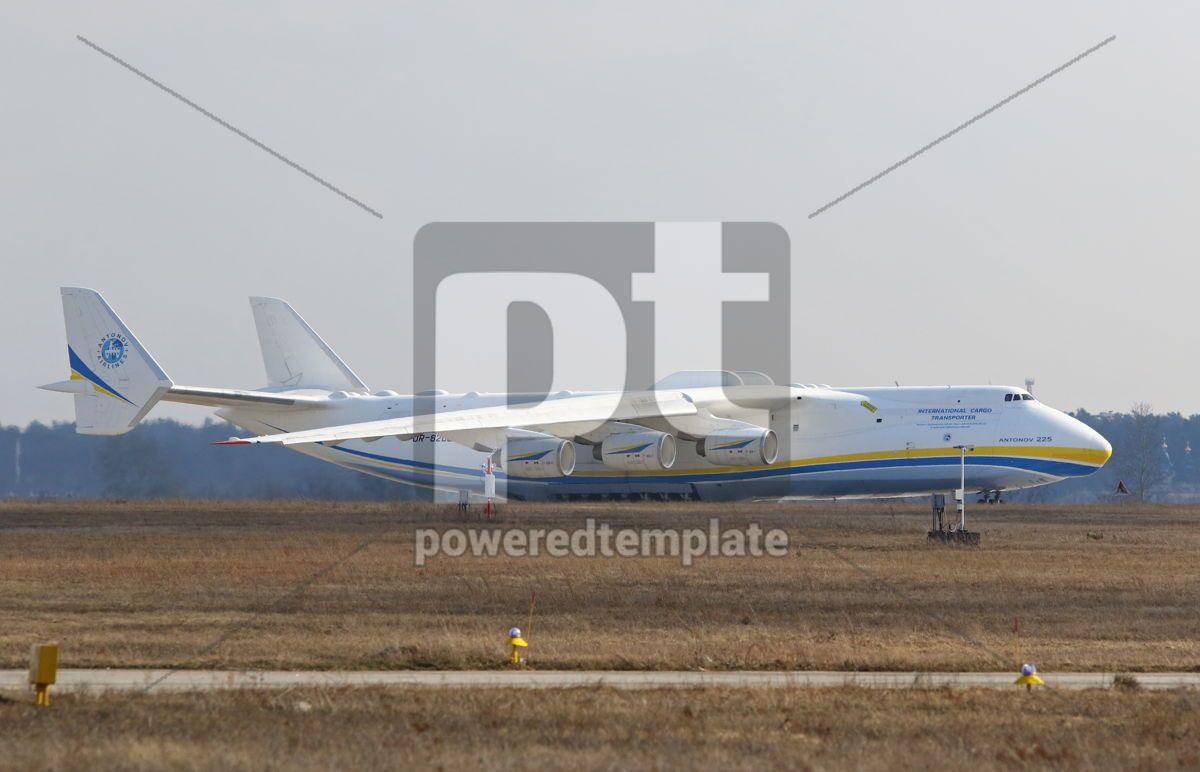 Antonov An-225 Mriya aircraft at Gostomel Airport Kiev Ukraine, 15876, Transportation — PoweredTemplate.com
