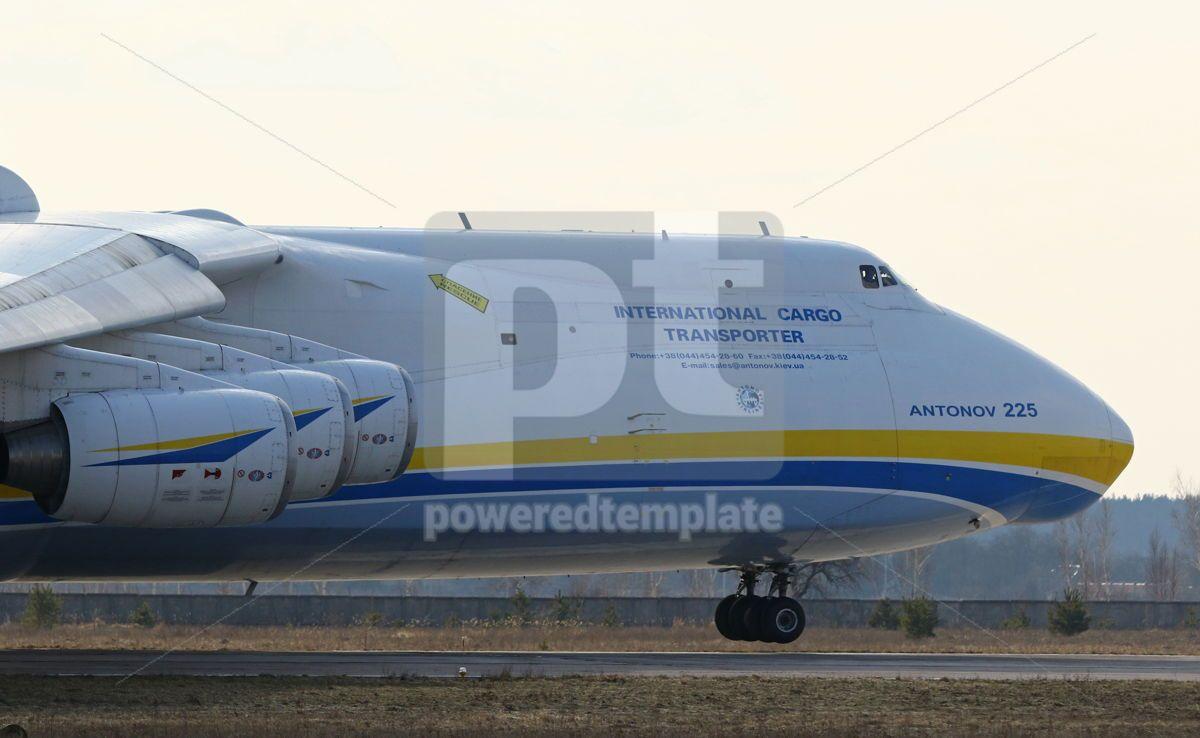 Antonov An-225 Mriya aircraft at Gostomel Airport Kiev Ukraine, 15880, Transportation — PoweredTemplate.com