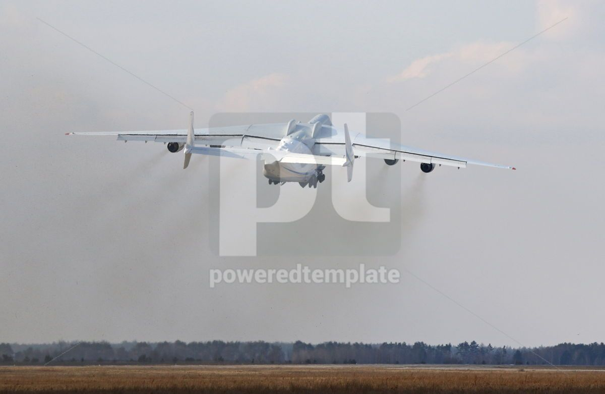 Antonov An-225 Mriya aircraft at Gostomel Airport Kiev Ukraine, 15882, Transportation — PoweredTemplate.com