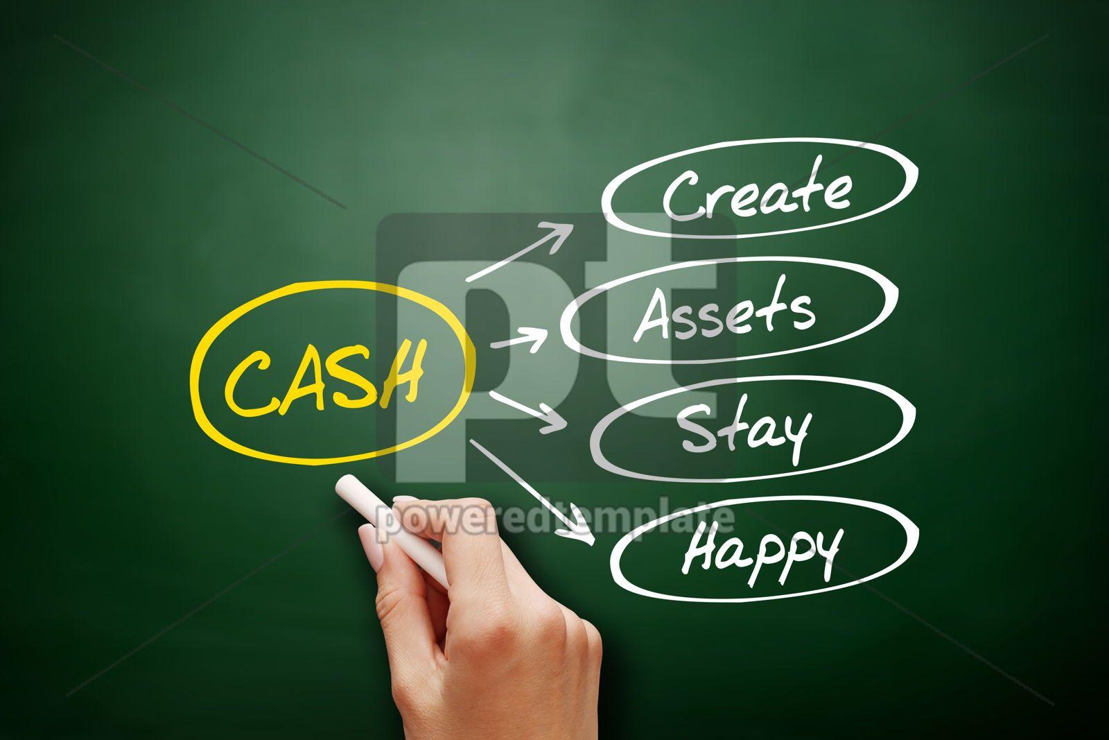 CASH - Create Assets Stay Happy acronym, 15904, Business — PoweredTemplate.com