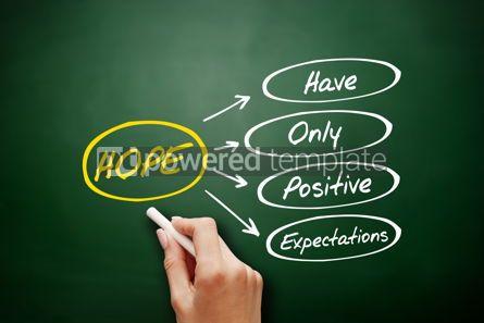 Business: HOPE - Hanging Onto Positive Expectations acronym #15918