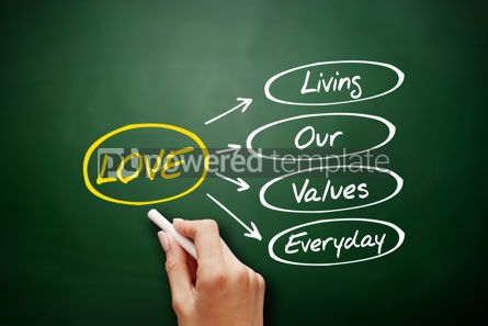 Business: LOVE - Living Our Values Everyday acronym #15923