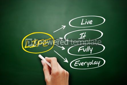 Business: LIFE - Live It Fully Everyday acronym business concept #15927