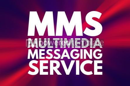 Business: MMS - Multimedia Messaging Service acronym technology concept b #15928