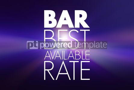 Business: BAR - Best Available Rate acronym business concept background #15930