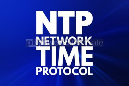 Business: NTP - Network Time Protocol acronym technology concept backgrou #15933