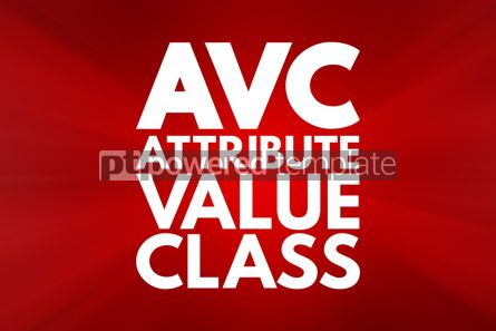 Business: AVC - Attribute Value Class acronym technology concept backgrou #15934