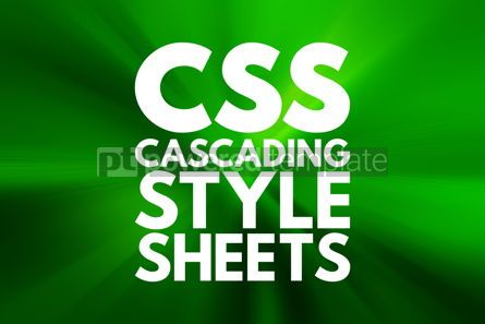 Business: CSS - Cascading Style Sheets acronym technology concept backgro #15935