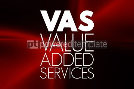 Business: VAS - Value Added Services acronym business concept background #15936