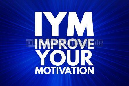 Business: IYM - Improve Your Motivation acronym concept background #15938