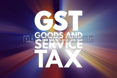 Business: GST - Goods and Service Tax acronym business concept background #15940