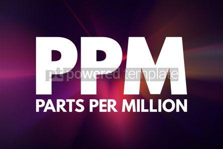 Business: PPM - Parts Per Million acronym medical concept background #15941