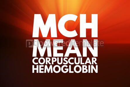 Business: MCH - Mean Corpuscular Hemoglobin acronym medical concept backg #15942