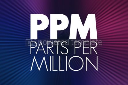 Business: PPM - Parts Per Million acronym medical concept background #15943