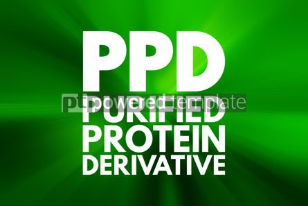 Business: PPD - Purified Protein Derivative acronym medical concept backg #15945