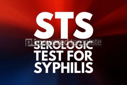 Business: STS - Serologic Test for Syphilis acronym medical concept backg #15948