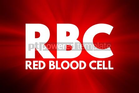 Business: RBC - Red Blood Cell acronym concept background #15950