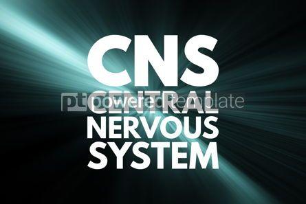 Business: CNS - Central Nervous System acronym medical concept background #15952