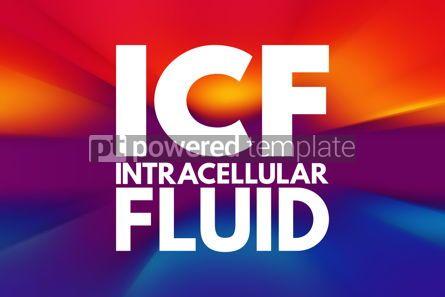 Business: ICF - intracellular fluid acronym medical concept background #15959