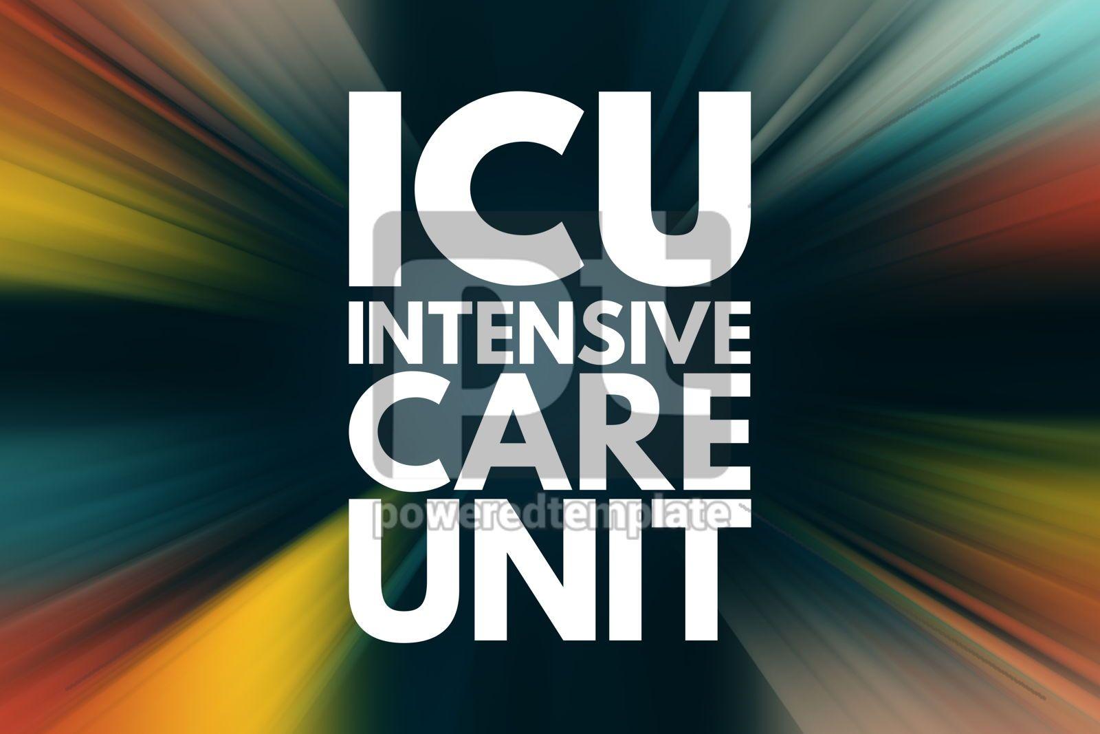 ICU - Intensive Care Unit acronym medical concept background, 15960, Business — PoweredTemplate.com