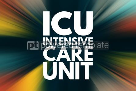 Business: ICU - Intensive Care Unit acronym medical concept background #15960