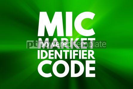 Business: MIC - Market Identifier Code acronym business concept backgroun #15964
