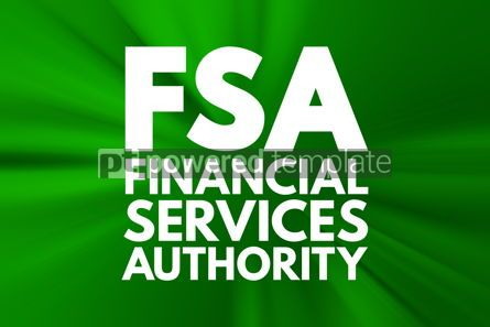 Business: FSA - Financial Services Authority acronym business concept bac #15967