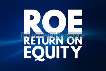 Business: ROE - Return On Equity acronym business concept background #15970