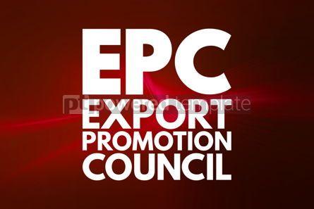 Business: EPC - Export Promotion Council acronym business concept backgro #15971