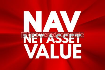 Business: NAV - Net Asset Value acronym business concept background #15974
