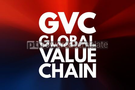 Business: GVC - Global Value Chain acronym business concept background #15976