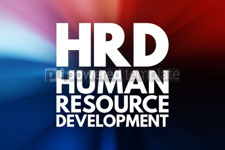 Business: HRD - Human Resource Development acronym business concept backg #15977