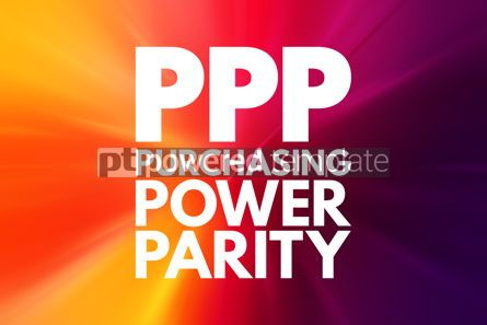 Business: PPP - Purchasing Power Parity acronym business concept backgrou #15981