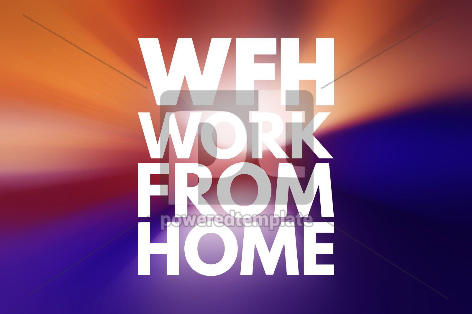 WFH - Work From Home acronym business concept background, 15992, Business — PoweredTemplate.com