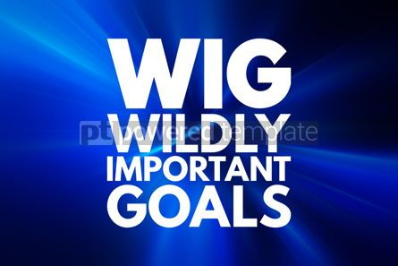 Business: WIG - Wildly Important Goals acronym business concept backgroun #15997