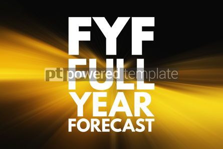 Business: FYF - Full Year Forecast acronym business concept background #15998